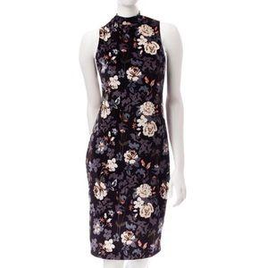 Signature Studio | Floral Velvet Midi Dress